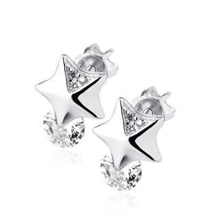Stříbrné šroubovací náušnice hvězdičky