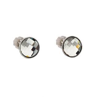 Stříbrné šroubovací náušnice s Crystals from Swarovski® BLACK DIAMOND