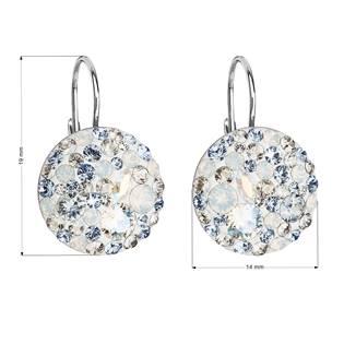 Stříbrné závěsné náušnice s krystaly Crystals from Swarovski®, Light Sapphire