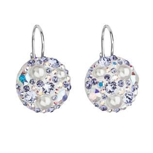 Stříbrné závěsné náušnice s krystaly Crystals from Swarovski®, Tanzanite AB