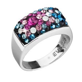 Stříbrný hranatý prsten Crystals from Swarovski®, Galaxy