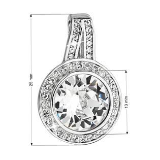 Stříbrný kulatý přívěšek s krystaly Crystals from Swarovski®