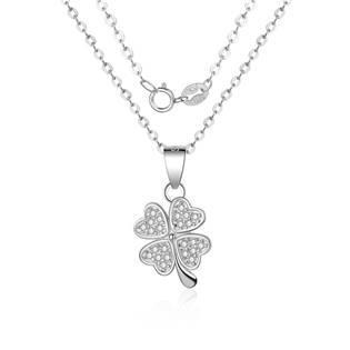 Stříbrný náhrdelník - čtyřlístek