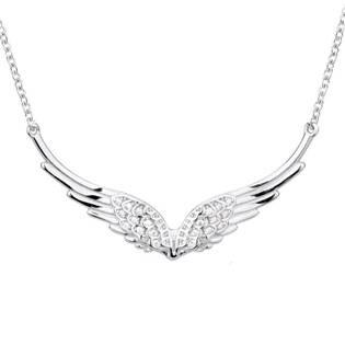 Stříbrný náhrdelník andělská křídla