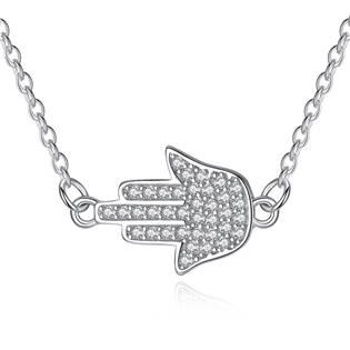 Stříbrný náhrdelník Hamsa