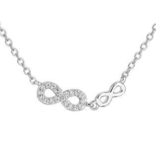 Stříbrný náhrdelník INFINITY - nekonečno