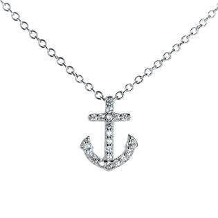 Stříbrný náhrdelník kotva