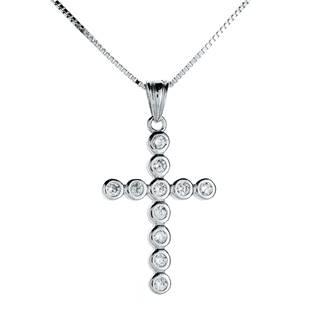 Stříbrný náhrdelník kříž