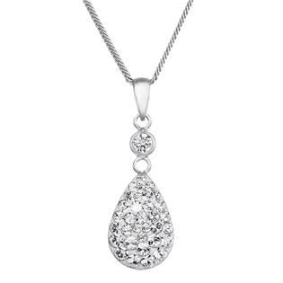 Stříbrný náhrdelník s krystaly Swarovski kapka