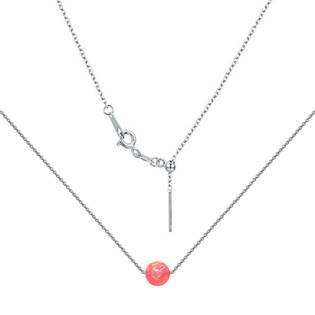 Stříbrný náhrdelník s opálem - kulička 5 mm
