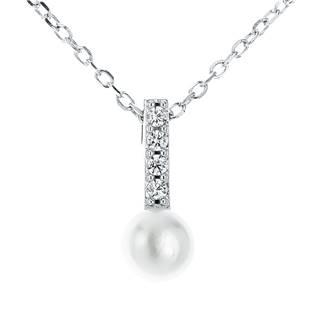 Střibrný náhrdelník s přírodní perlou