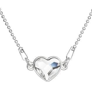 Stříbrný náhrdelník se srdíčkem Crystals from Swarovski® Crystal