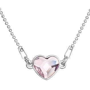Stříbrný náhrdelník se srdíčkem Crystals from Swarovski® Rosaline
