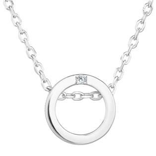 Stříbrný náhrdelník se zirkonem