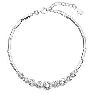 Stříbrný náramek s krystaly Crystals from Swarovski®