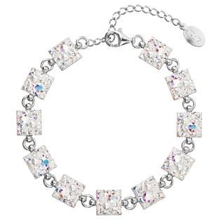 Stříbrný náramek s krystaly Crystals from Swarovski® CRYSTAL AB