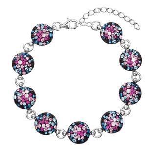 Stříbrný náramek s krystaly Crystals from Swarovski®, Galaxy