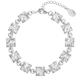 Stříbrný náramek s krystaly Crystals from Swarovski® Light Sapphire