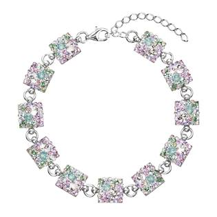 Stříbrný náramek s krystaly Crystals from Swarovski®, Sakura