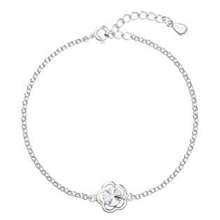 Stříbrný náramek s tyrkysovým kamenem Crystals from Swarovski® Crystal
