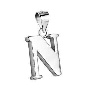 """Stříbrný přívěšek - písmeno """"N"""""""