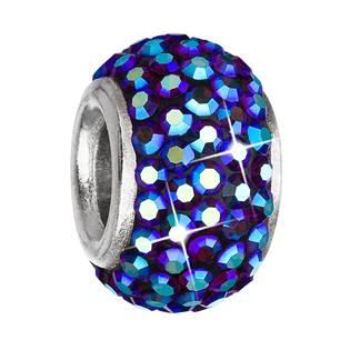 Stříbrný přívěšek korálek Crystals from Swarovski® Bermuda Blue