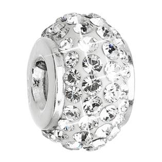 Stříbrný přívěšek korálek Crystals from Swarovski® Crystal