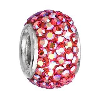 Stříbrný přívěšek korálek Crystals from Swarovski®Siam AB