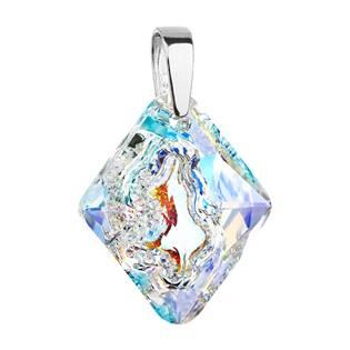 Stříbrný přívěšek kosočtverec Crystals from Swarovski® AB