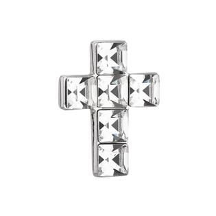 Stříbrný přívěšek křížek s krystaly Crystals from Swarovski® Crystal