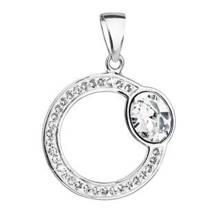 Stříbrný přívěšek kruh s kameny Crystals from Swarovski®