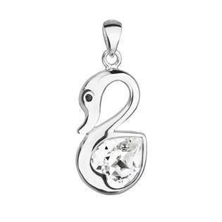 Stříbrný přívěšek labuť s kamenem Crystals from Swarovski®