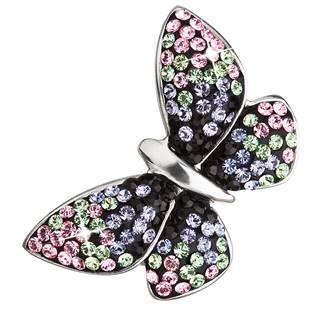 Stříbrný přívěšek motýl s krystaly Crystals from Swarovski® Magic Violet