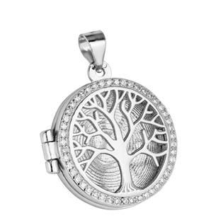 Stříbrný přívěšek otevírací - medajlon strom života