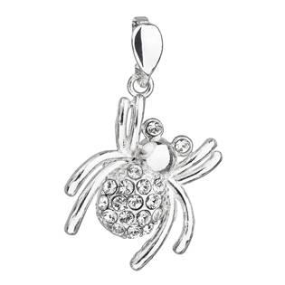 Stříbrný přívěšek pavouk s kameny Crystals from Swarovski®