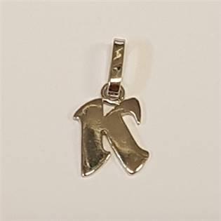 Stříbrný přívěšek písmeno - iniciála K