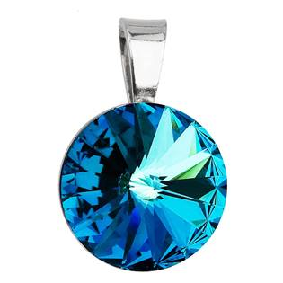 Stříbrný přívěšek rivoli Crystals from Swarovski® Bermuda Blue