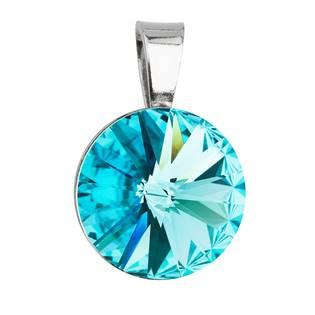 Stříbrný přívěšek rivoli Crystals from Swarovski® Light Turquoise