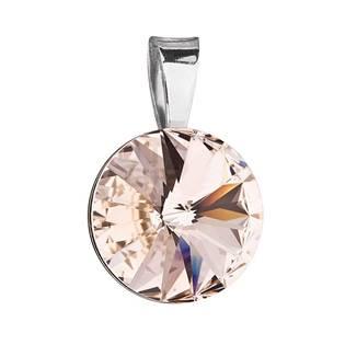 Stříbrný přívěšek rivoli Crystals from Swarovski® Silk