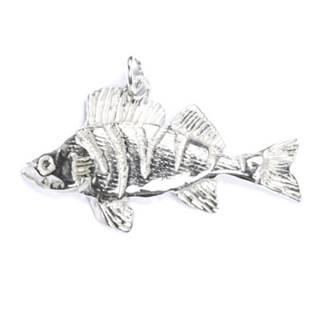 Stříbrný přívěšek ryba okoun