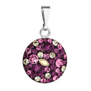 Stříbrný přívěšek s kameny Crystals from Swarovski® Amethyst