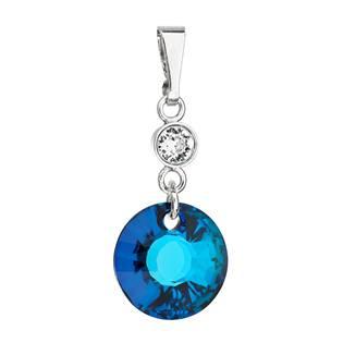 Stříbrný přívěšek s kameny Crystals from Swarovski® Bermuda Blue