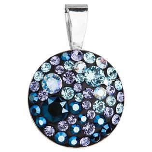 Stříbrný přívěšek s kameny Crystals from Swarovski® Blue Style
