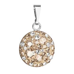 Stříbrný přívěšek s kameny Crystals from Swarovski® Gold