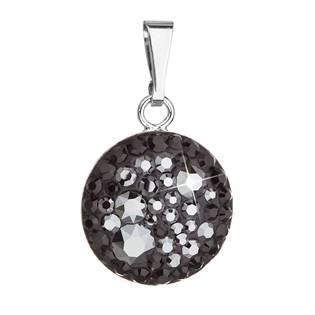 Stříbrný přívěšek s kameny Crystals from Swarovski® Hematite