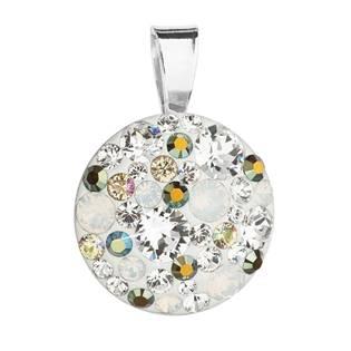 Stříbrný přívěšek s kameny Crystals from Swarovski® Iridiscent green