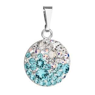 Stříbrný přívěšek s kameny Crystals from Swarovski® Light Turquoise