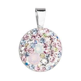 Stříbrný přívěšek s kameny Crystals from Swarovski® Magic Rose
