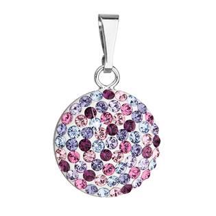 Stříbrný přívěšek s kameny Crystals from Swarovski® MIX violet