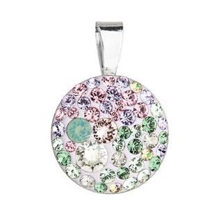 Stříbrný přívěšek s kameny Crystals from Swarovski® Sakura